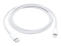 Apple USB-C to Lightning Cable - Câble de données / charge pour iPad / iPhone / iPod - Lightning / USB - Lightning (M) pour USB de type C (M) - 1 m - pour 12.9-inch iPad Pro; 9.7-inch iPad Pro; iPad Air; iPad Air 2; iPad mini; iPad mini 2; 3; 4; iPad with Retina display (4th generation); iPhone 5, 5c, 5s, 6, 6 Plus, 6s, 6s Plus, SE; iPod nano (7G); iPod touch (5G, 6G) MK0X2ZM/A
