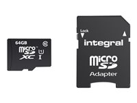 Integral Smartphone and Tablet - Carte mémoire flash ( adaptateur microSDXC vers SD inclus(e) ) - 64 Go - Class 10 - microSDXC UHS-I INMSDX64G10-90SPTAB