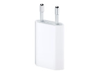 Apple 5W USB Power Adapter - Adaptateur secteur - 5 Watt ( USB ) - Europe - pour iPad mini 2; 3; 4; iPhone 3G, 3GS, 4, 4S, 5, 5c, 5s, 6, 6s, SE; iPod classic; iPod touch MD813ZM/A