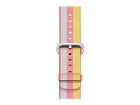 Apple 42mm Woven Nylon Band - Bracelet de montre - 145 - 215 mm - rouge - pour Watch (42 mm) MPW72ZM/A
