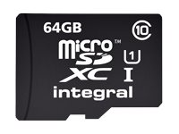 Integral UltimaPro - Carte mémoire flash - 64 Go - UHS Class 1 / Class10 - microSDXC UHS-I INMSDX64G10-40NAUSBR
