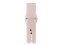 Apple 42mm Sport Band - Bracelet de montre - 140-210 mm - sable rose - pour Watch (42 mm) MNJ92ZM/A