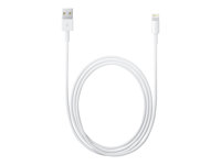 Apple Lightning to USB Cable - Câble de données / charge pour iPad / iPhone / iPod - Lightning / USB - USB (M) pour Lightning (M) - 1 m - pour iPad Air; iPad Air 2; iPad mini; iPad mini 2; 3; 4; iPad Pro; iPad with Retina display (4th generation); iPhone 5, 5c, 5s, 6, 6 Plus, 6s, 6s Plus; iPod nano (7G); iPod touch (5G, 6G) MD818ZM/A